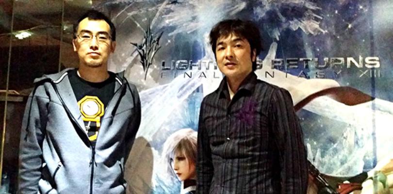 Toriyama y Abe, de Lightning Returns Final Fantasy XIII.